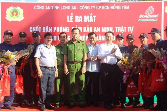 Ra mắt Chốt Dân phòng đảm bảo an ninh, trật tự trong KCN Thuận Đạo